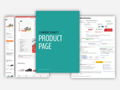 Image of deskresearch, looked at our own environment, looked at competitors and readed the Baymard document of product pages.